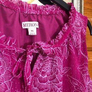 Merona pink floral dress